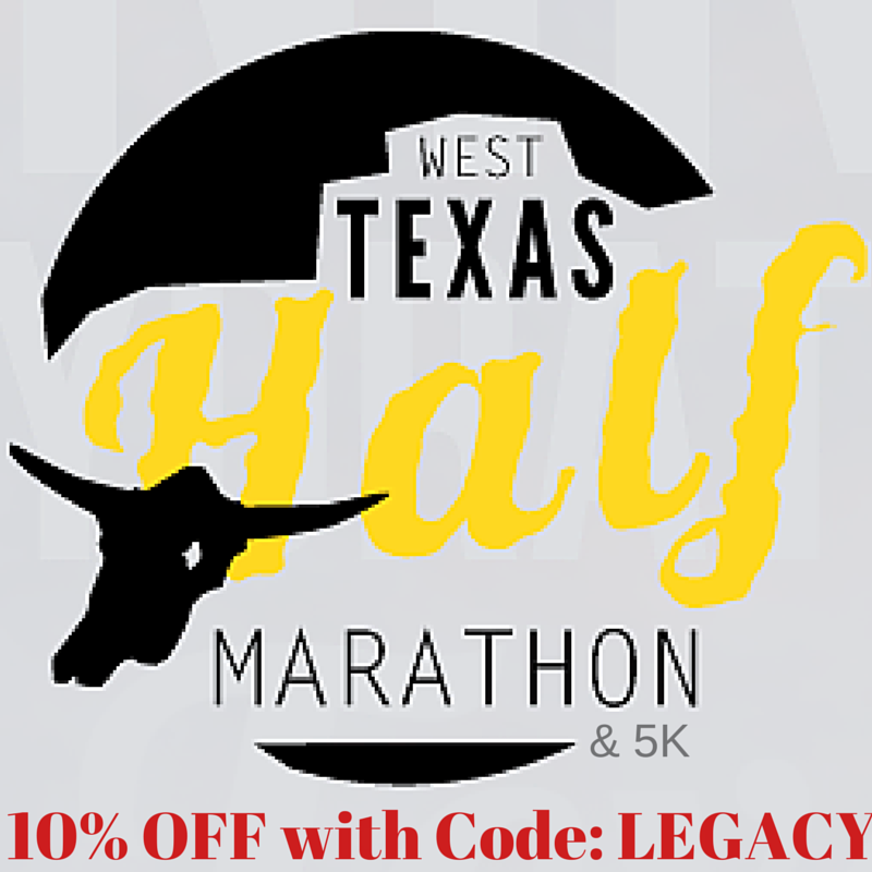 The West Texas Half Marathon! Training with running partners, plus a coupon code!