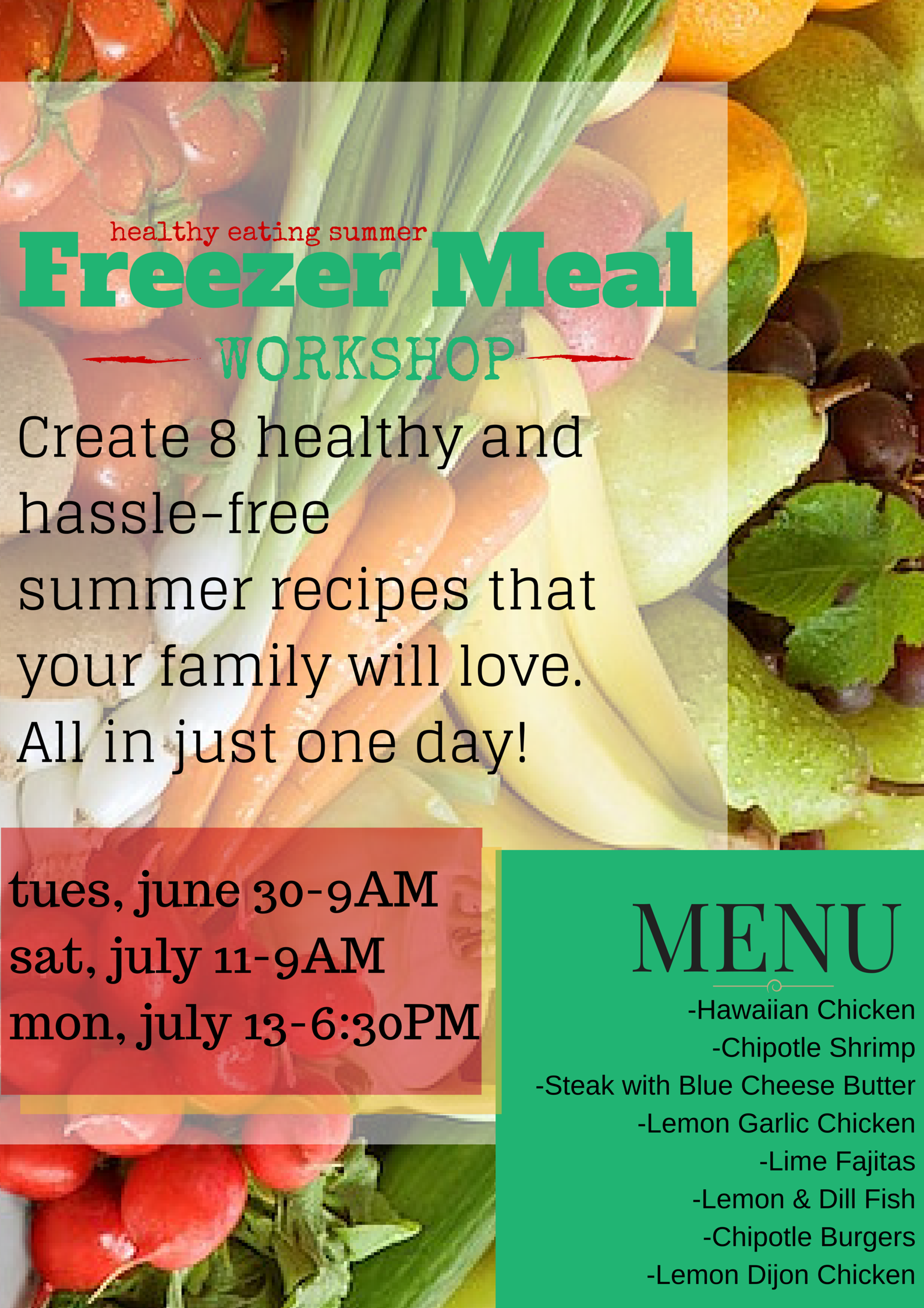 Freezer Meal Workshops make meal planning and prepping so easy! with @brittanysuell