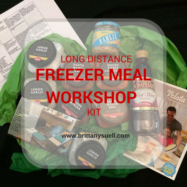 Long Distance Freezer Meal Workshop!  Get everything sent to your door to host your own Healthy Freezer Meal Workshop for you and your friends!