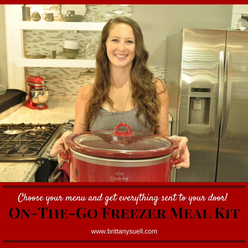 Get an On-The-Go Freezer Meal Kit and have everything sent to you to make 5+ Healthy Meals for your family!