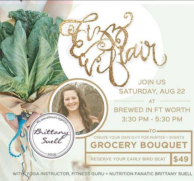 DIY Workshop: How to make a Grocery Bouquet with @brittanysuell & @FizzandFlair GIVEAWAY
