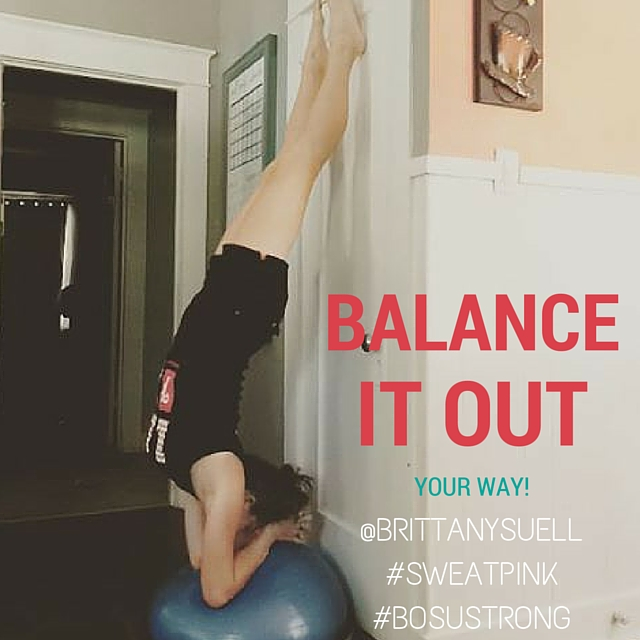 BALANCE IT OUT WITH BOSU AND FITAPPROACH #BOSUSTRONG #SWEATPINK