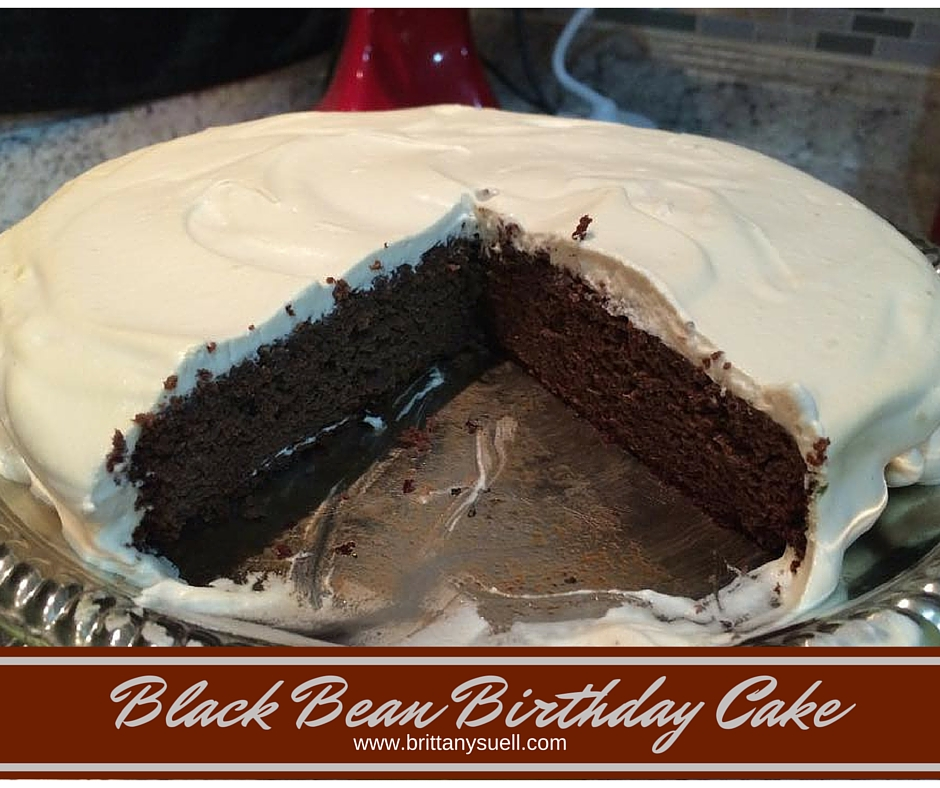 Flourless, sugar free, delicious and healthy chocolate Black Bean Birthday Cake from Brittany Suell