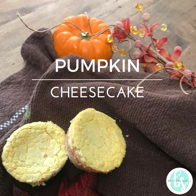 Sugar Free Pumpkin cheesecake!