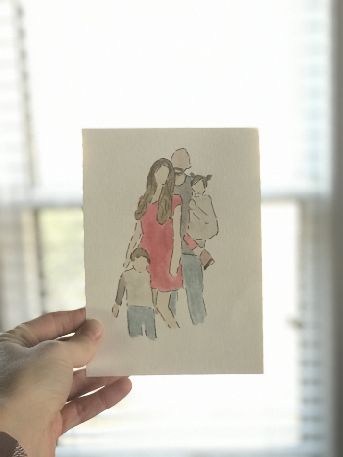 Get these amazing family portrait watercolors from  @SeptemberOcean  plus she's got a great deal going for Valentines Day! Get a 5x7 photo of your family, kiddos, furry faves, for just $25!