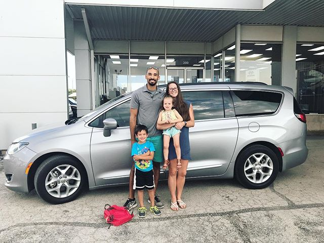 We became a mini-van Fam tonight! And I'm totally proud of it too! . Thankful for another fun, adventurous, and big step with my fave man!