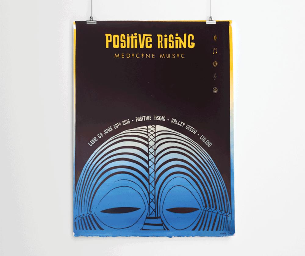 Positive Rising Poster Design
