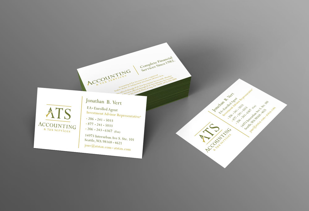 ATS Business card design