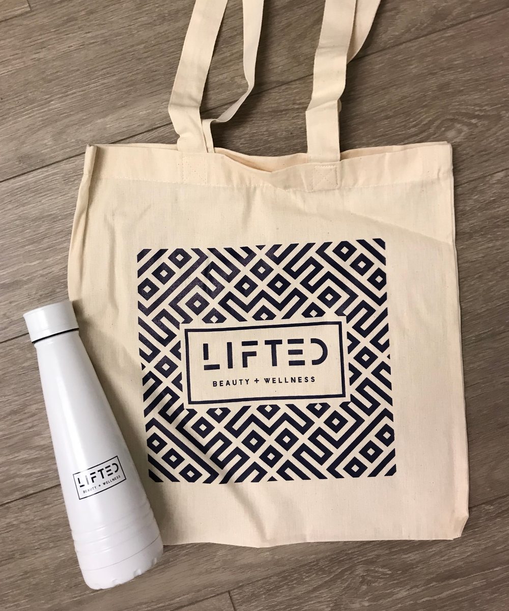 Screen printed tote bag & Promotional water bottle
