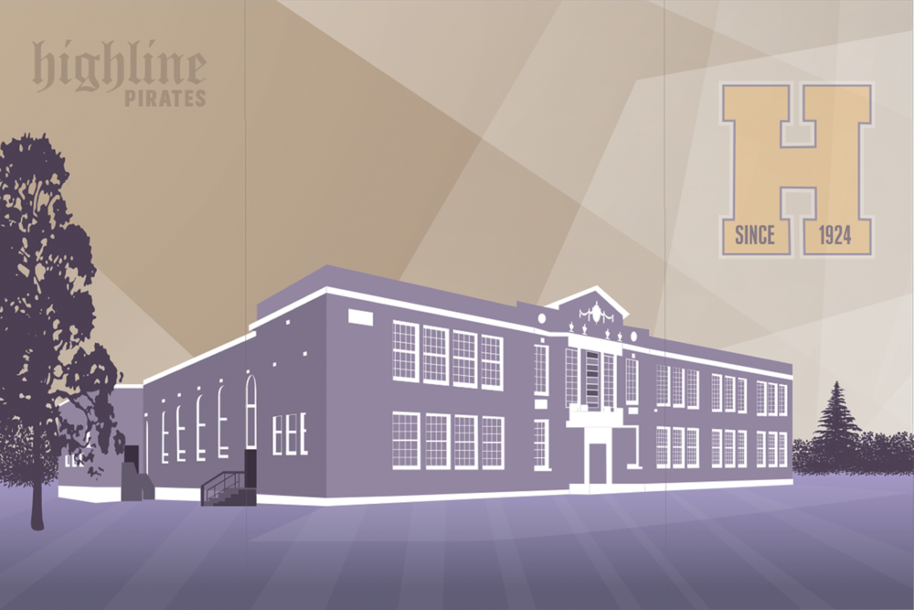 Highline High School Illustration