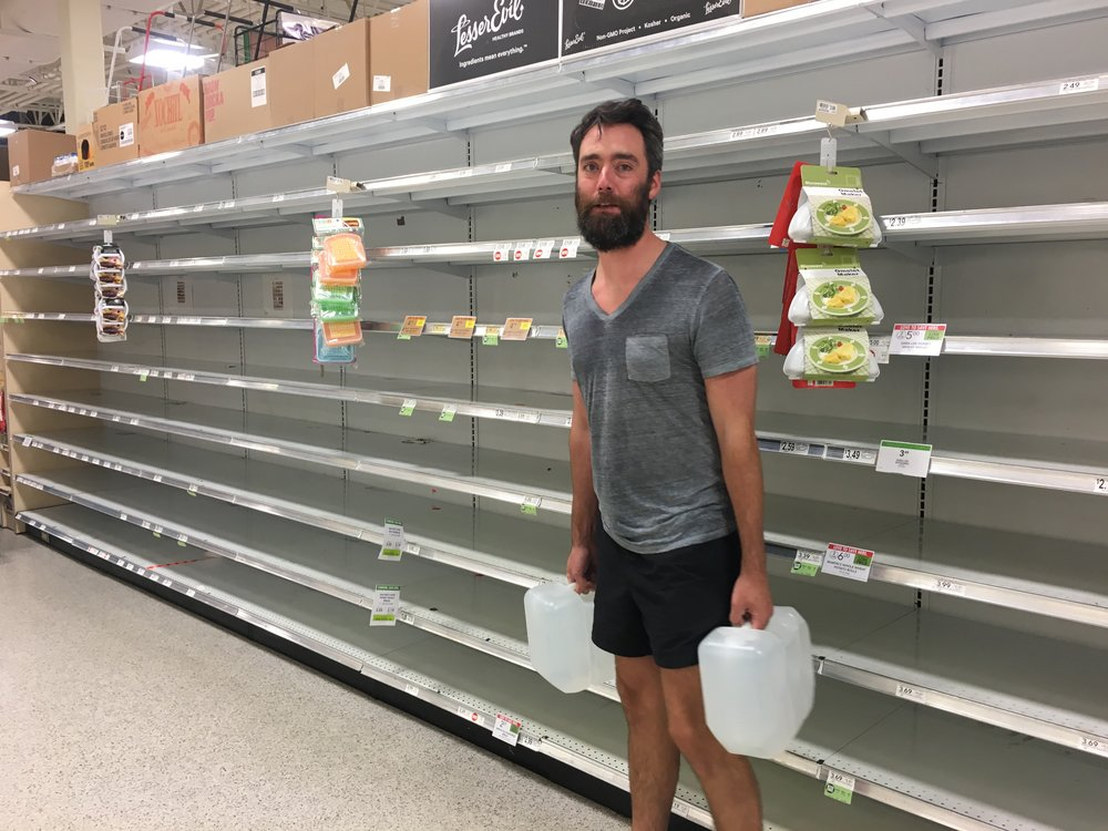 At Publix during Hurricane Matthew, 2016