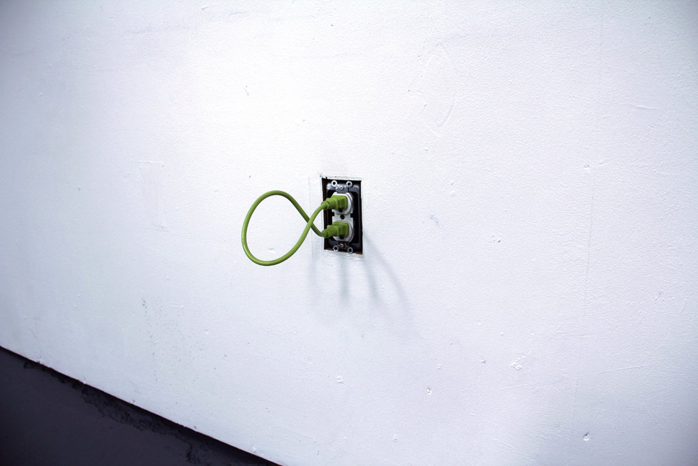 Self-annihilating Loop, 2014, extension cord