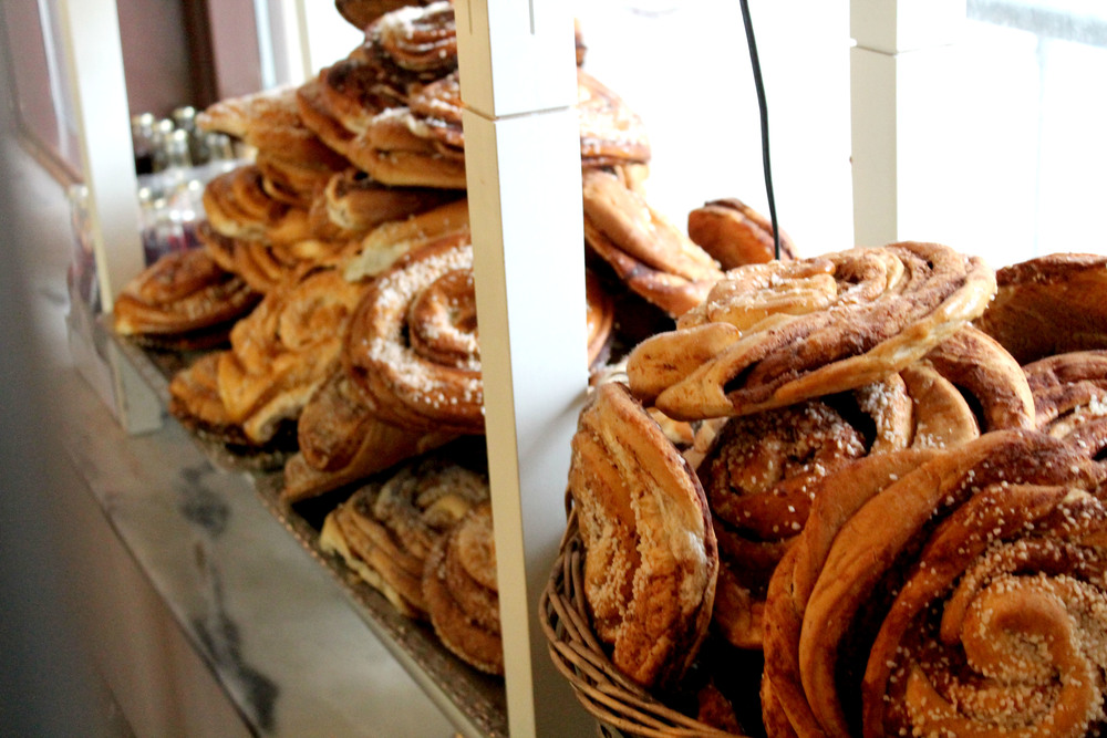 Café Husaren is located in a beautiful listed building in Haga. Here you can find what's most likely the largest cinnamon bun in the entire world.  Image source found  here