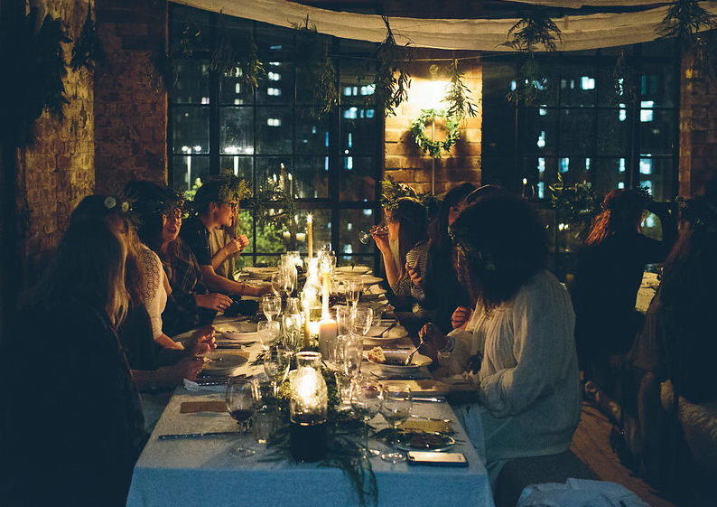 Candles, low lighting, great friends and maybe a glass or two of something festive - why not introduce a bit of hygge when entertaining friends?!   Image Source