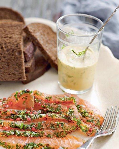 de7eb660b Recipe time - Aquavit-Cured Gravadlax with Mustard Sauce! — Nordique ...
