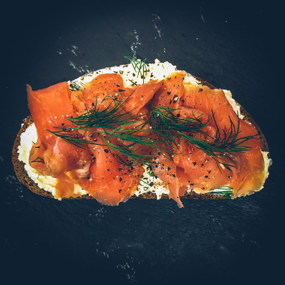 Smoked Salmon on Rye Bread.JPG