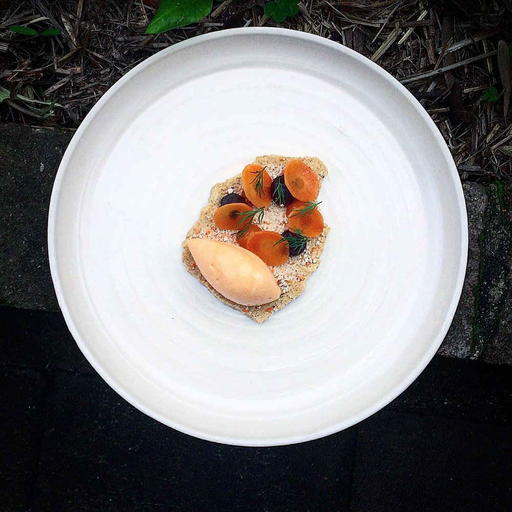 Carrot, sea buckthorn, liquorice and fennel.