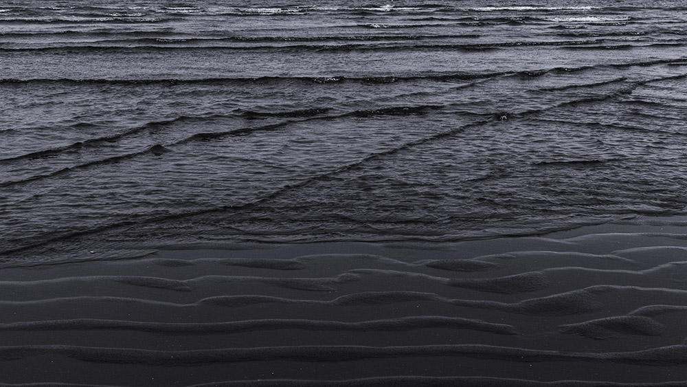 """""""Abstract textures of the wave patterns made by the incoming tide at Hvítserkur."""""""