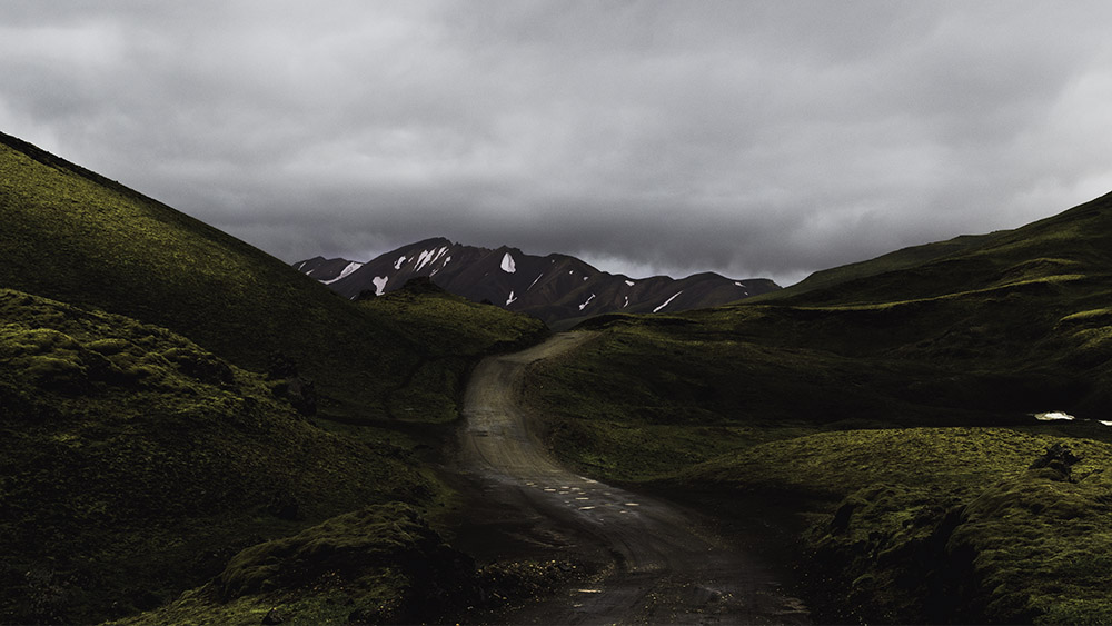 """Mossy road into Landmannalaugar, my first glimpse into the Icelandic highlands!"""