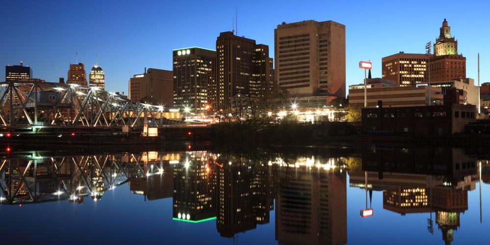 Newark by night