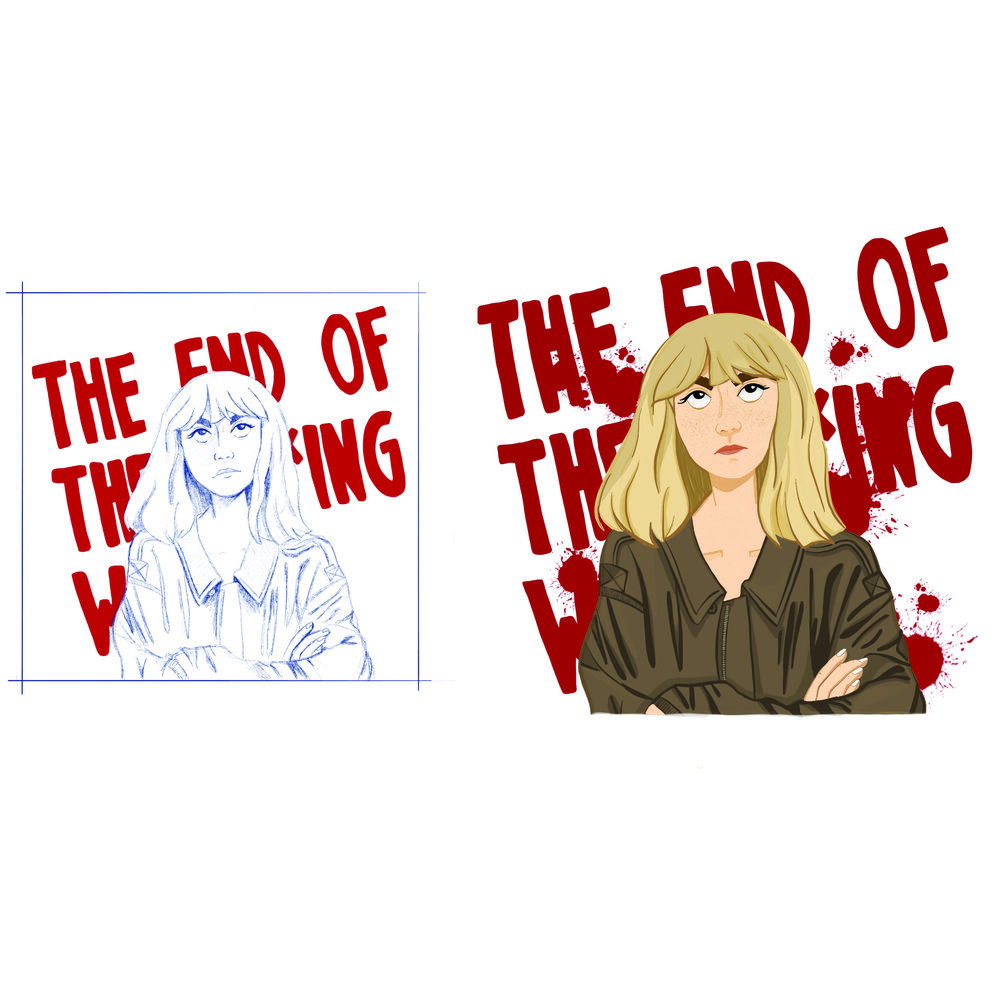 Illustration based off the Netflix show  The End of the F*cking World