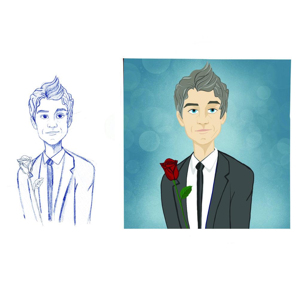 Illustration of 2018  Bachelor , Arie