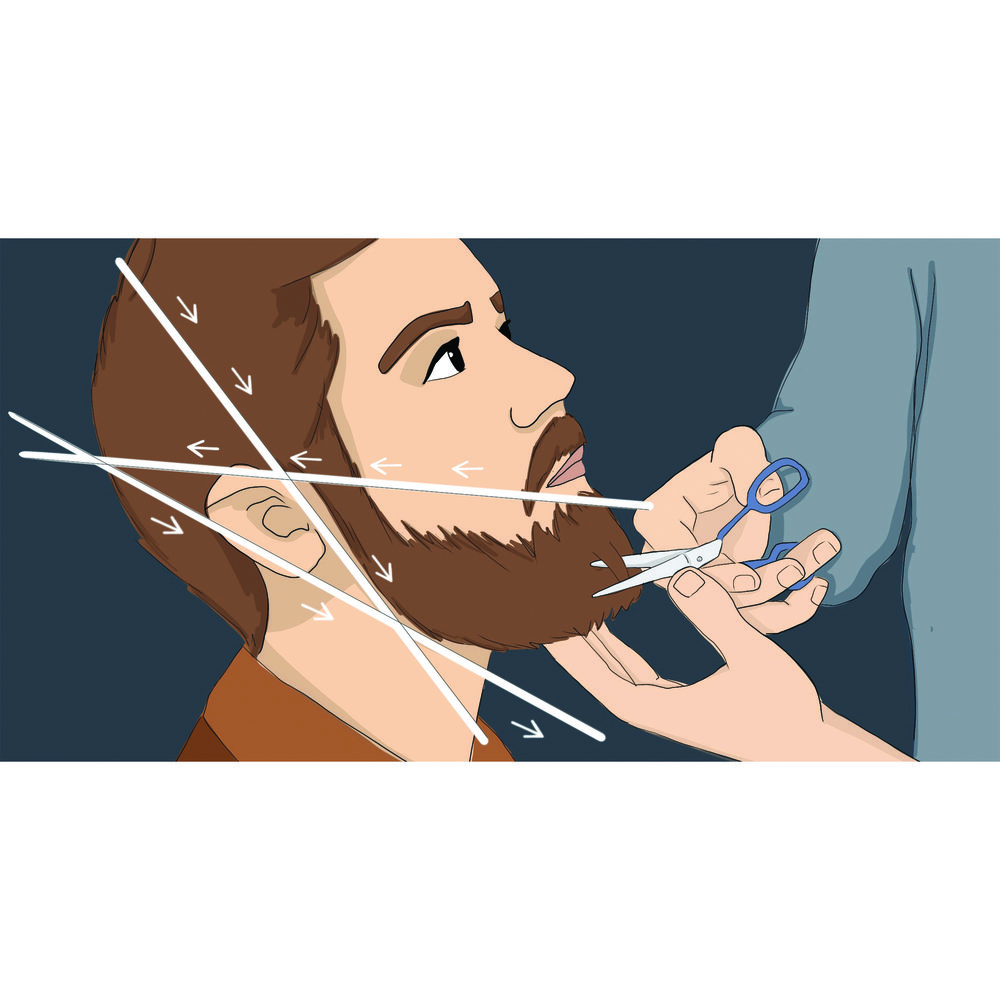 Facebook ad for beard trimming