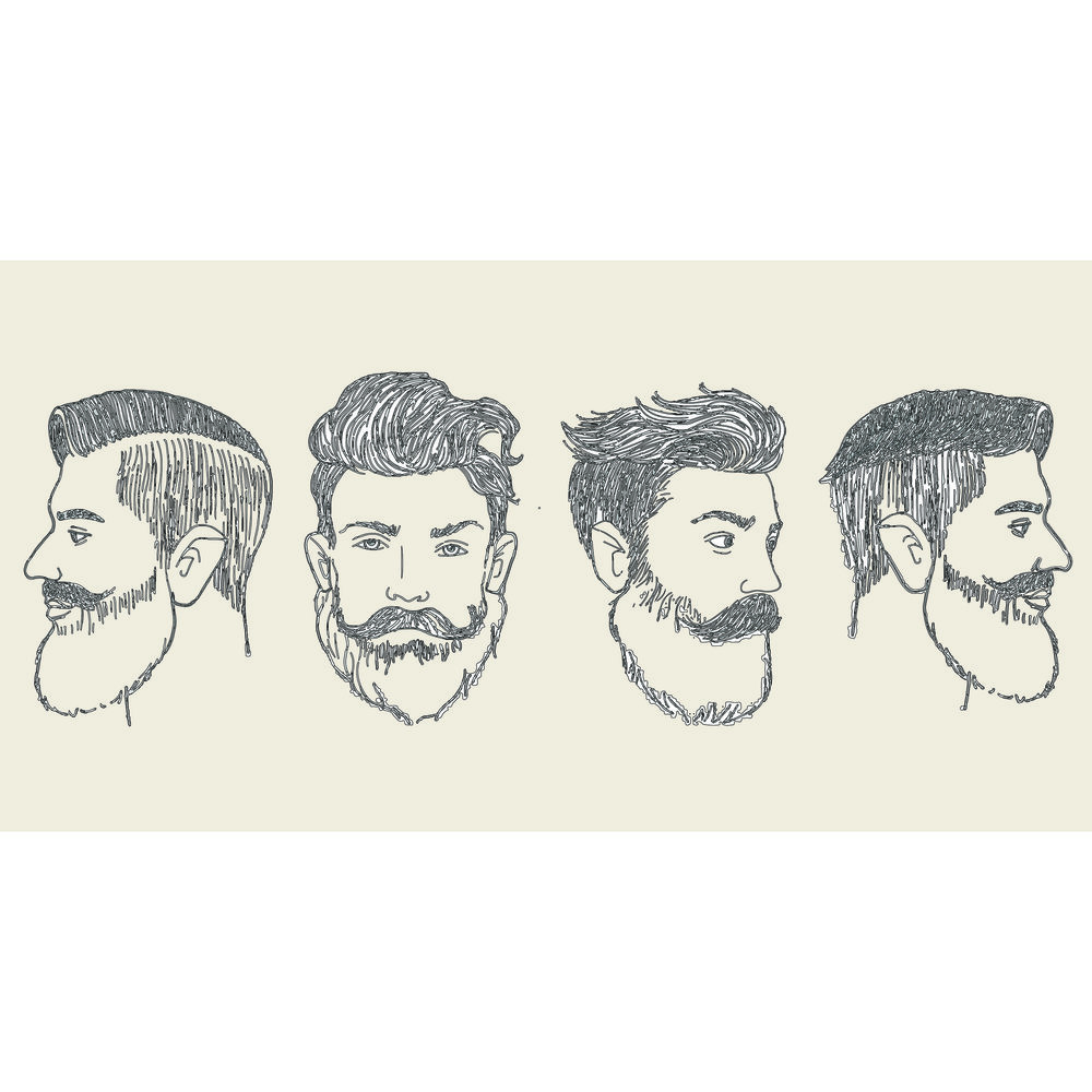 Facebook ad for beard styles