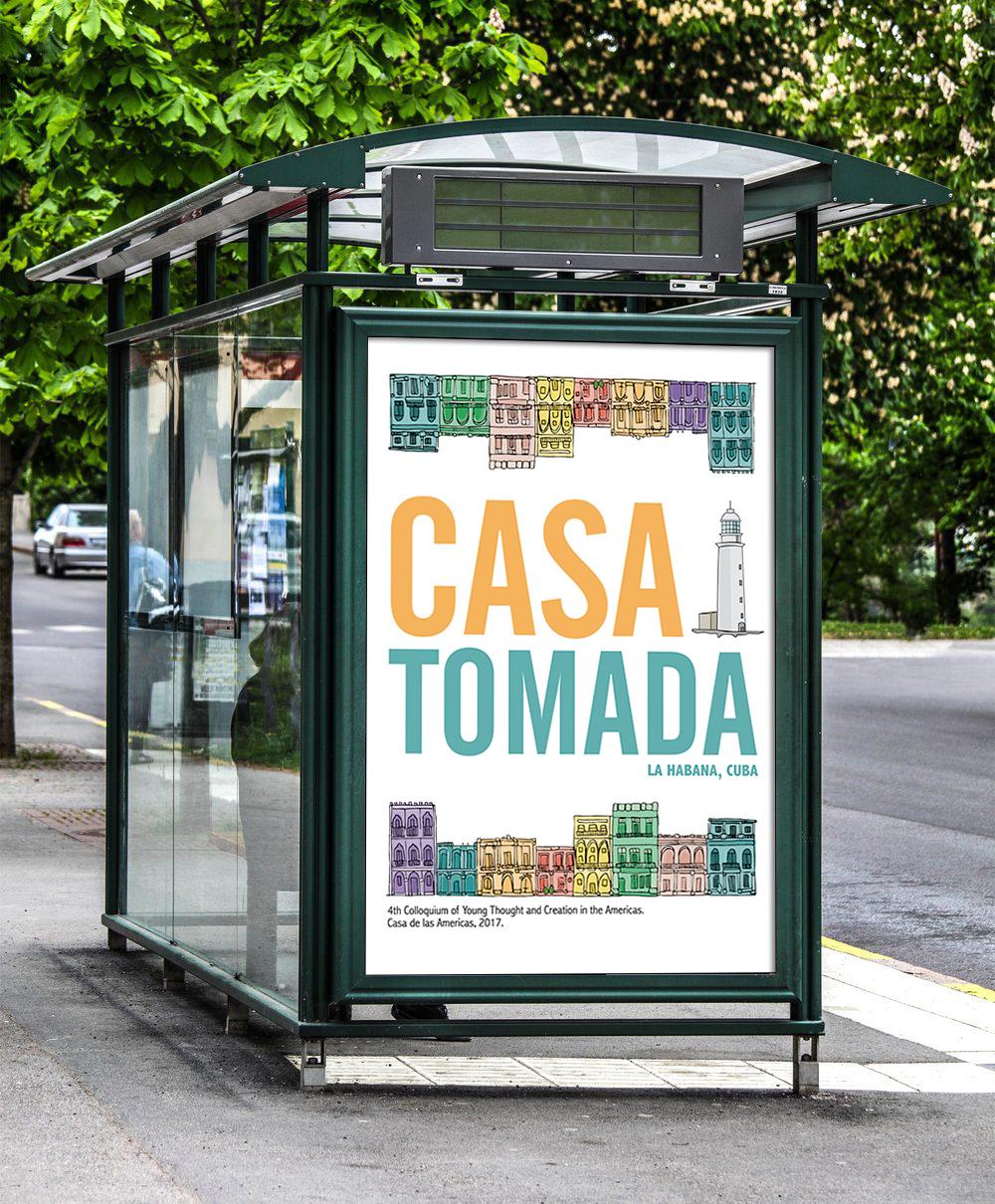 Casa Tomada - Cuban festival poster
