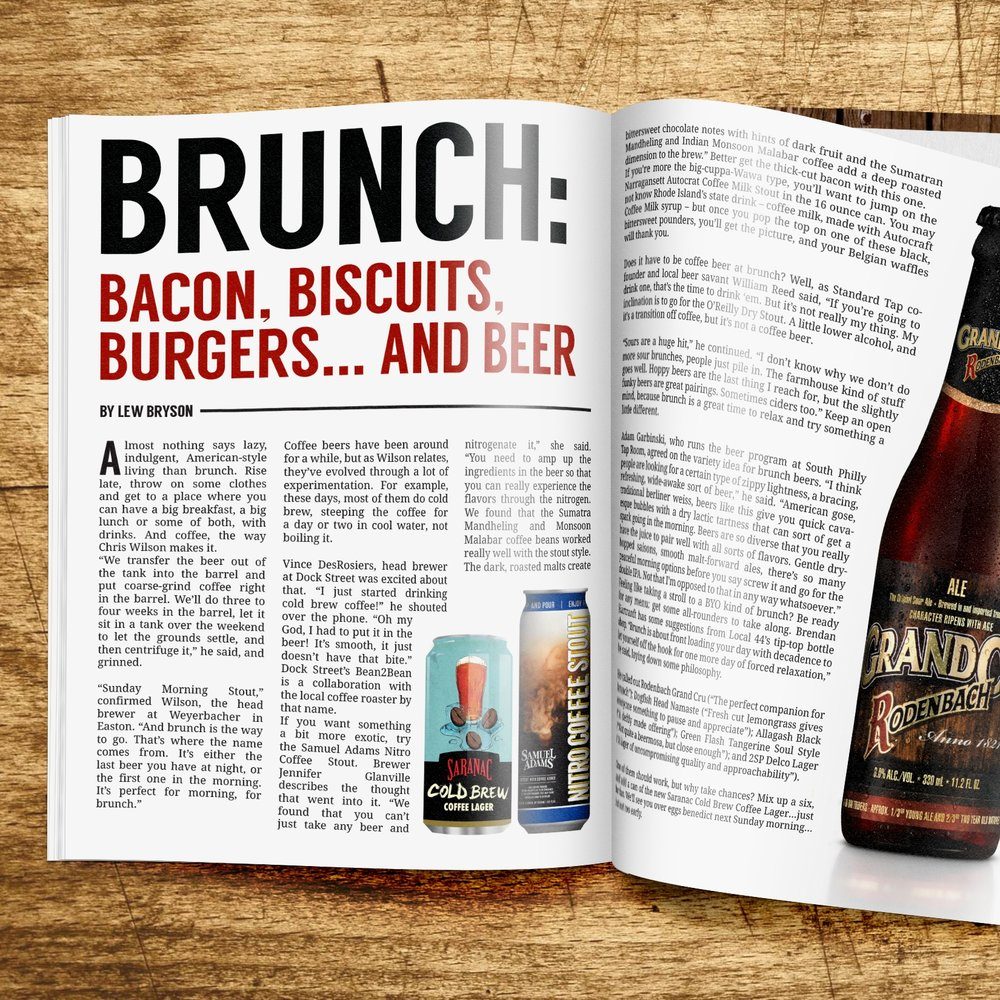 Magazine layout for craft beer magazine