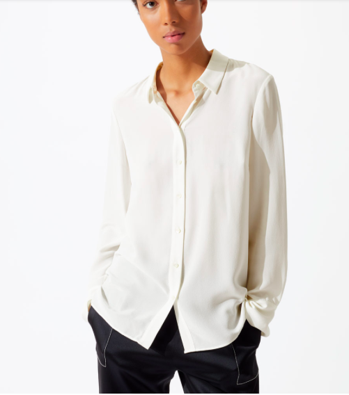 White Silk Shirt (similar)