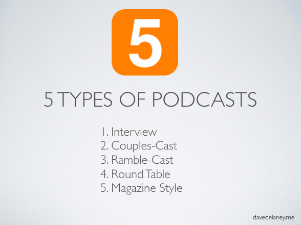 The Five Types of Podcasts