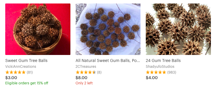 Sweet Gum Tree Balls