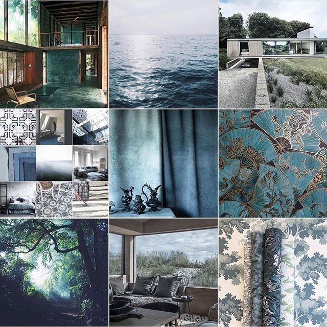 In love with @michelleogundehin greens and blues moodboard. These are always the colours I end up gravitating back to. 🌠🌑🍀 #interiordesign #elledecoration #moodboard #blues #greens #inspiration #abstractart #abstractexpressionism #londonartist #contemporaryart #emergingartist #brixton #instaart #homedecor #morganmcfieart