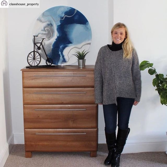 #Repost from @classhouse_property with @regram.app ✨🎨 Classhouse Property X Morgan McFie Art 🎨✨ . Can we all take a minute to appreciate how amazingly talented my bestie @morganmcfieart is?! Here I am with a stunning piece from her new collection which we've used to dress our latest rental property (check out our last post for details!) . Morgan is now represented by @thesistergalleryltd in London (super proud friend moment! 🤗) and has recently been exhibiting her work at @contemporaryartfairs (eeek! 😍). Watch this space because she's gonna be BIG TIME!! . www.morganmcfieart.com