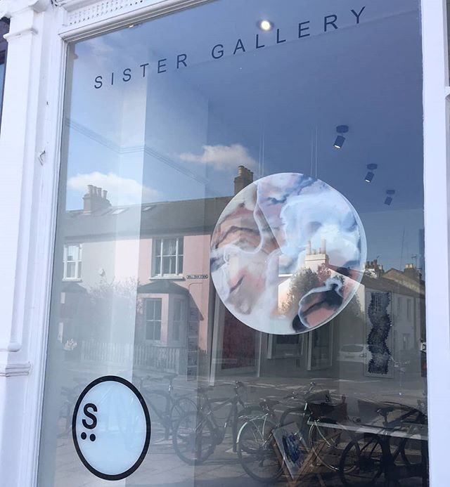 Happy Monday morning from sunny Barnes! New work Desert Heart sitting pretty in @sistergalleryltd window. Love the double reflections from the glass & resin.