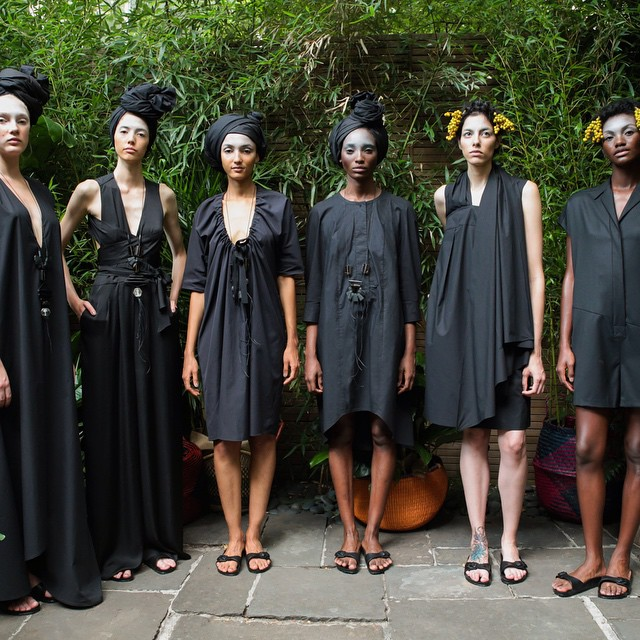 The black story. #SS16 #NYFW #gardenpresentation