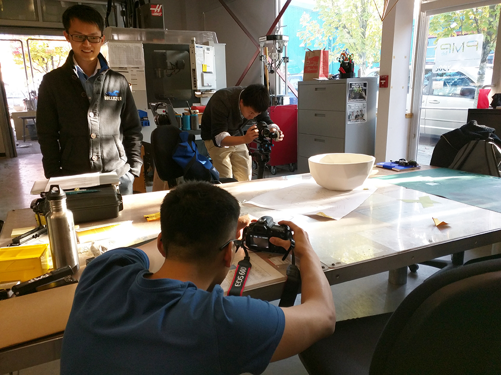 Filming at Emily Carr University