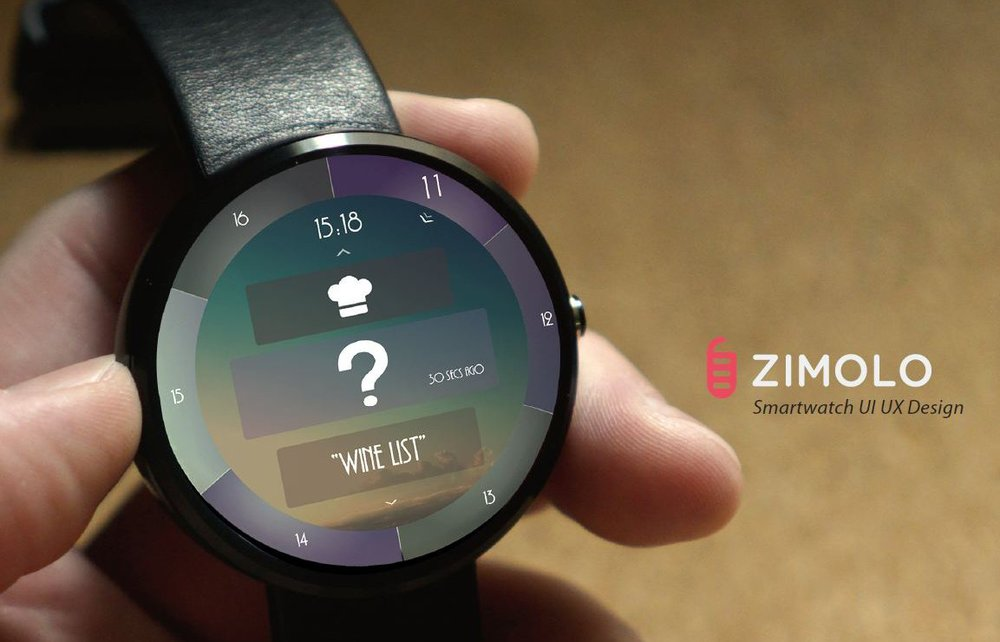 Interaction and visual design for a POS application on smart watch device