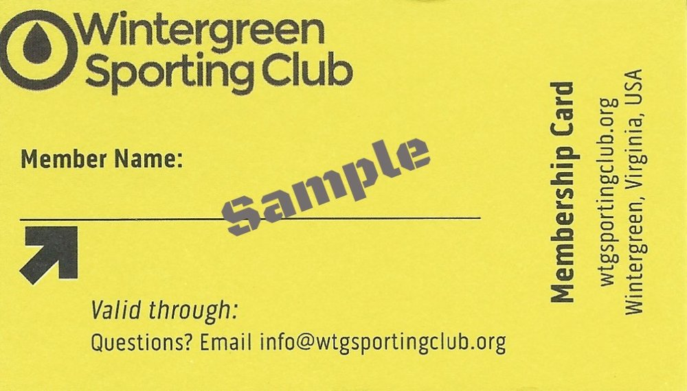 Members can obtain their membership card from the club treasurer. Email  treasurer@wtgsportingclub.org