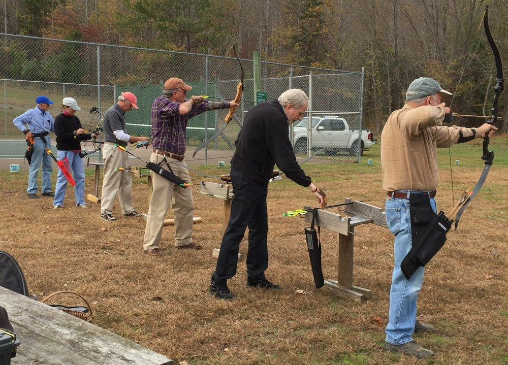 WSC Archers at a Tuesday Coaching and Practice session at Rodes Farm .
