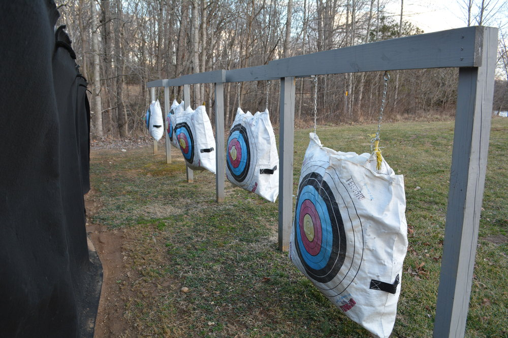...all we need to do is flip them around. The targets at Rodes Farm are in good shape.