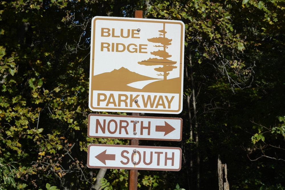 Blue Ridge Parkway sign.JPG
