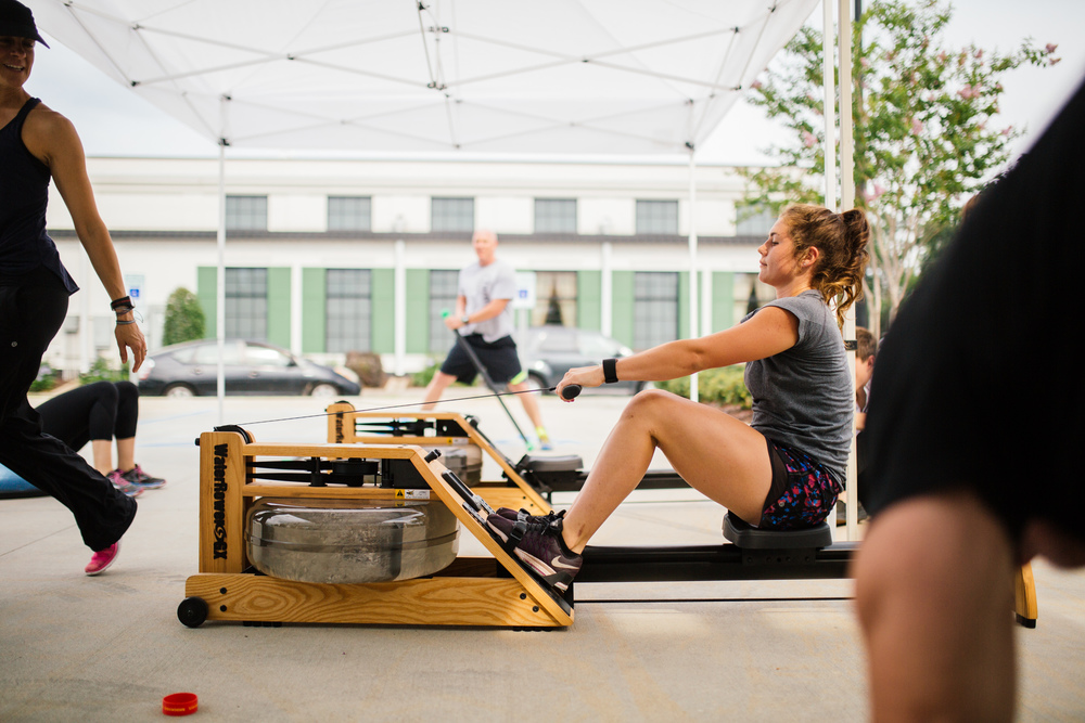 We are teaming up with lululemon Athletica Baton Rouge   to host the first ever SHOCKWAVE WARS!   Beginning at 4:30pm on the store porch, three rowing challenge classes will lead up to the championship round at 6:45pm. The top three finalists from each session will win TreadBR and lululemon swag by participating in the final round.