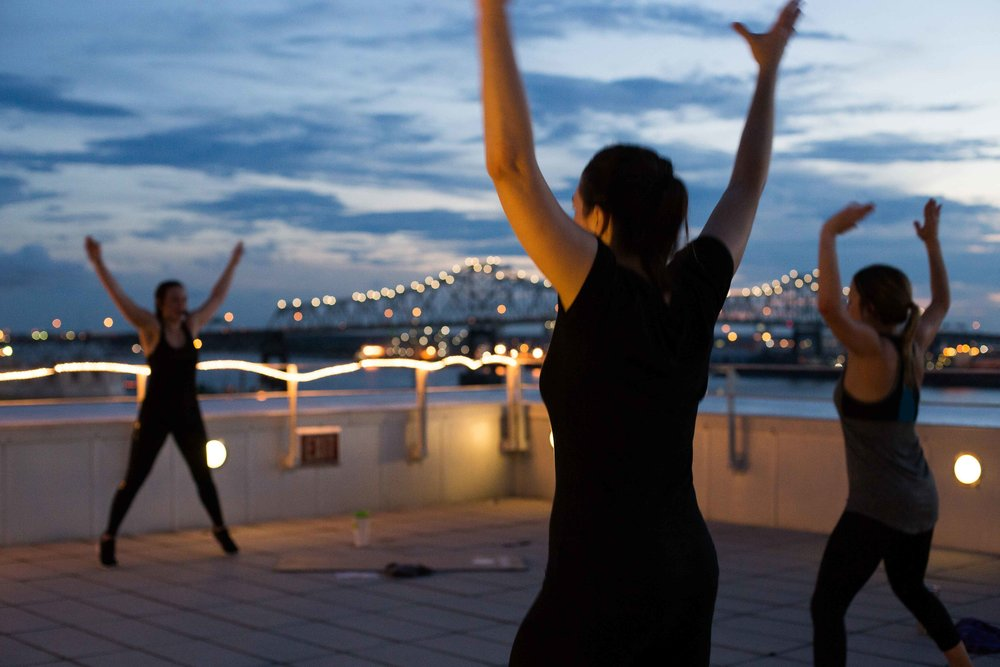 Join us for a complimentary cardio class, taught by Kate Venturi, at the Tsunami rooftop Thursday October 11 at 6PM!   This class is being offered in partnership with Absolut vodka who will be providing happy hour specials following the class.  Reserve your free spot through mindbody, and please bring a mat!