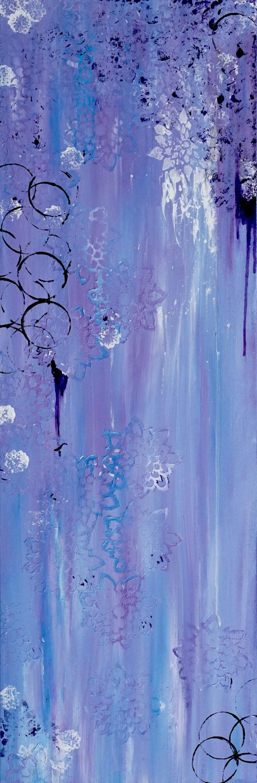 "Purple Reign, 12""x36"", acrylic"
