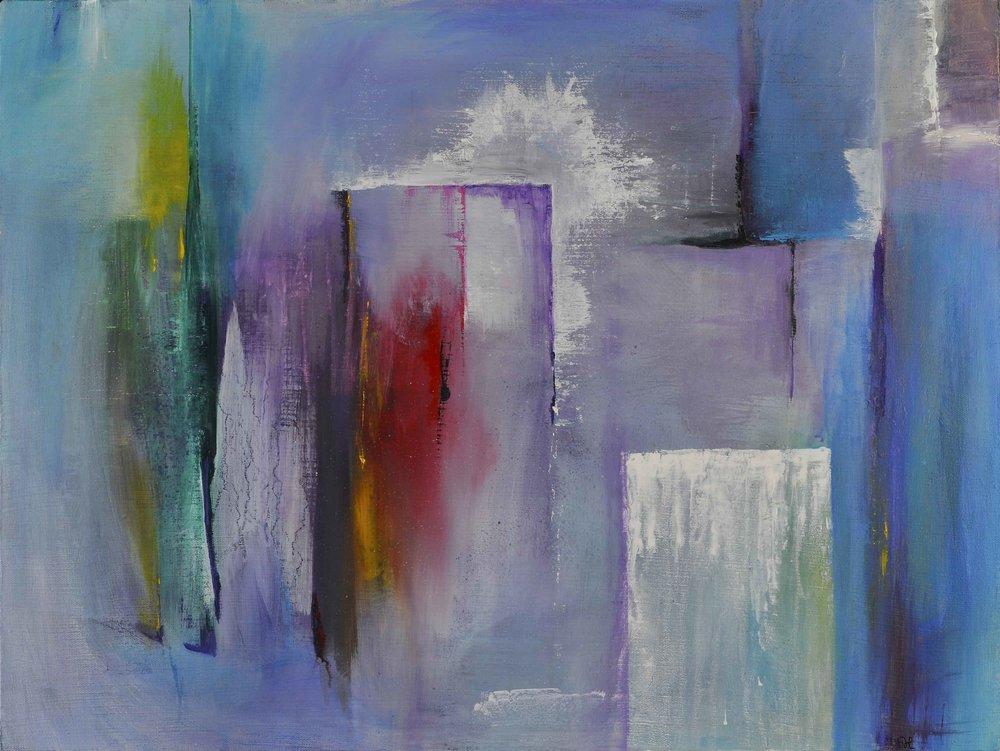 """Clairvoyance, 24""""x18"""", acrylic"""