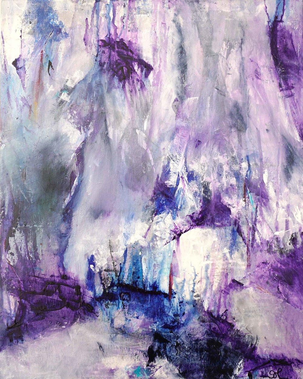"Fissures, 16""x20"", acrylic"