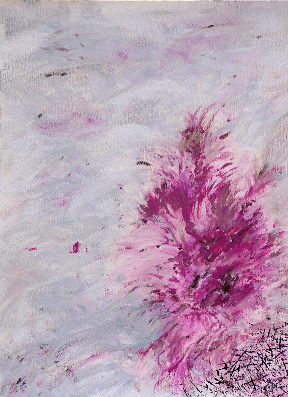 "Phoenix Nest, 9""x12"", acrylic"