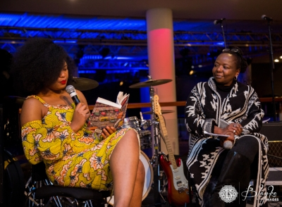 Chibundu Onuzo with Ellah Allfrey at Welcome to Lagos launch